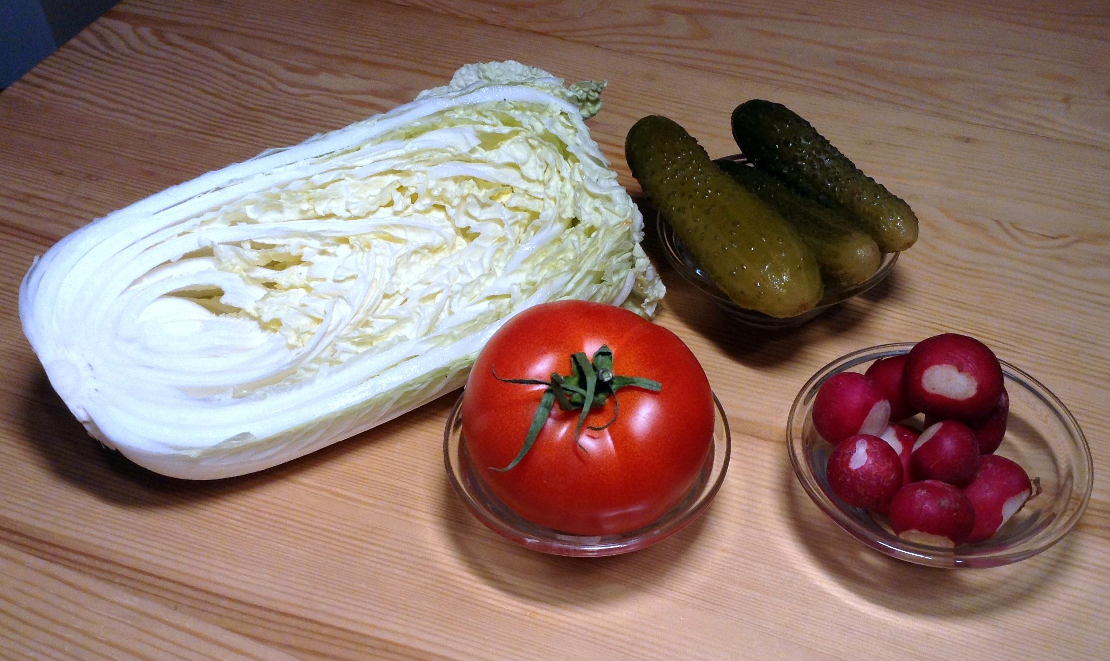 sałatka z kapusty pekińskiej składniki